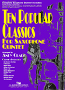 Ten Popular Classics for Saxophone Quintet cover.